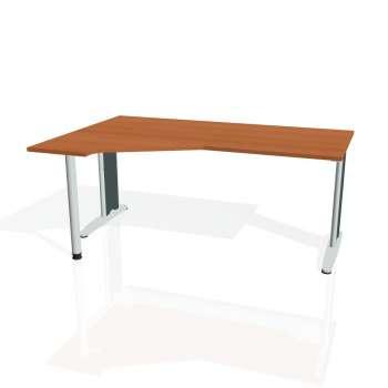 Psací stůl Hobis FLEX FEV 1800 pravý, třešeň/kov