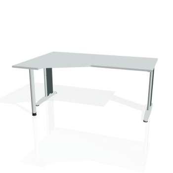 Psací stůl Hobis FLEX FEV 1800 pravý, šedá/kov