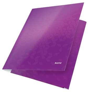Desky na dokumenty s chlopněmi a gumičkou LEITZ WOW - A4, purpurová