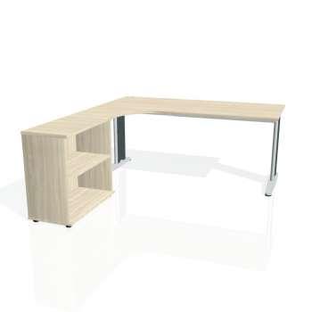Psací stůl Hobis FLEX FE 1800 H pravý, akát/kov