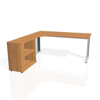 Psací stůl Hobis FLEX FE 1800 H pravý, olše/kov