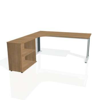 Psací stůl Hobis FLEX FE 1800 H pravý, višeň/kov