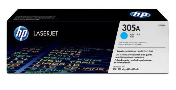 Toner HP CE411A/305A - azurová