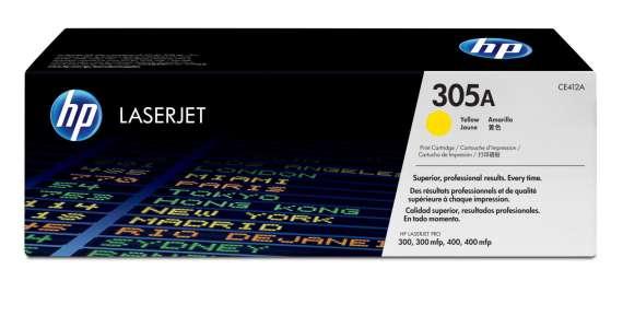 Toner HP CE412A/305A - žlutá