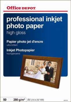 Fotopapír Office Depot, A4, vysoce lesklý