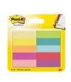 Bločky Post-it, značkovací - 12,7 x 44,4 mm, mix 10 barev