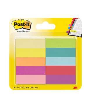 Značkovací lístečky Post-it - 15,0 x 50,0 mm, mix barev, 10 x 50 ks