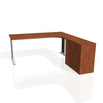 Psací stůl Hobis FLEX FE 1800 HR levý, calvados/kov