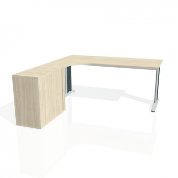 Psací stůl Hobis FLEX FE 1800 HR pravý, akát/kov