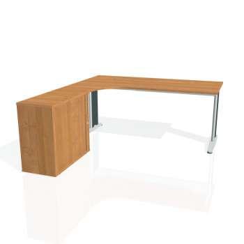 Psací stůl Hobis FLEX FE 1800 HR pravý, olše/kov