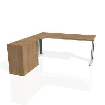 Psací stůl Hobis FLEX FE 1800 HR pravý, višeň/kov