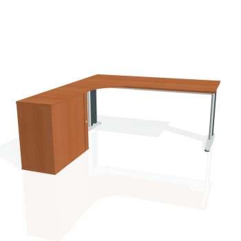 Psací stůl Hobis FLEX FE 1800 HR pravý, třešeň/kov