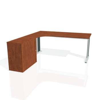 Psací stůl Hobis FLEX FE 1800 HR pravý, calvados/kov