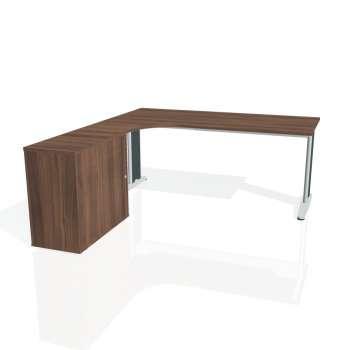 Psací stůl Hobis FLEX FE 1800 HR pravý, ořech/kov