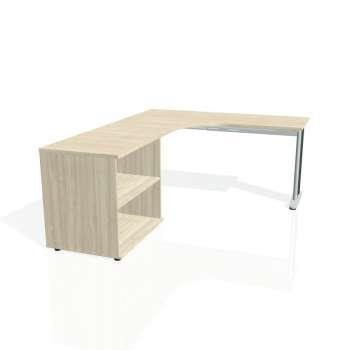 Psací stůl Hobis FLEX FE 60 H pravý, akát/kov