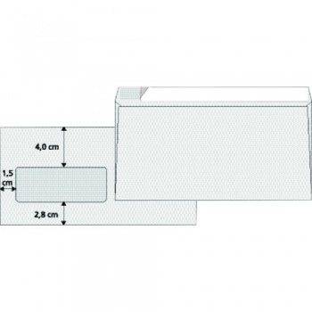Obálky DL - samolepicí s okénkem vlevo, 1000 ks