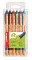 Kuličkové pero Stabilo Green Pointball - 6 barev, 0,5 mm