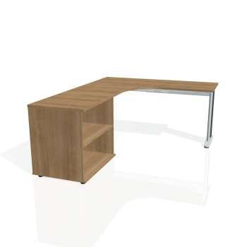 Psací stůl Hobis FLEX FE 60 H pravý, višeň/kov