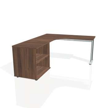 Psací stůl Hobis FLEX FE 60 H pravý, ořech/kov