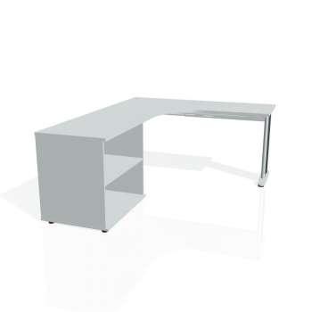 Psací stůl Hobis FLEX FE 60 H pravý, šedá/kov