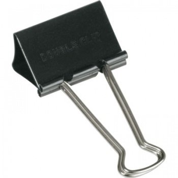 Černé kovové klipy, 19 mm x 12 ks
