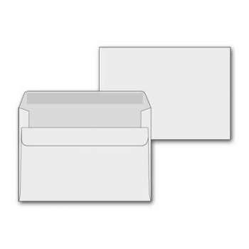 Obálky C6 Office Depot - obyčejné, navlhčovací lepidlo, 50 ks