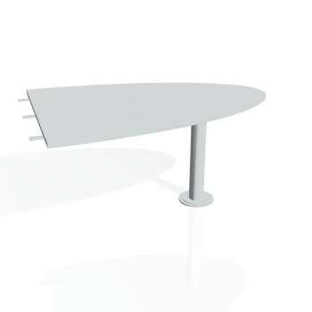 Přídavný stůl Hobis FLEX FP 1500 2, šedá/kov