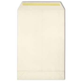 Obchodní tašky s křížovým dnem - B4, samolepicí, s krycí páskou, bílé, 100 ks