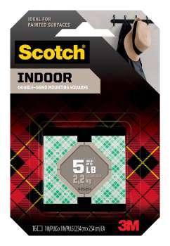 Montážní čtverečky Scotch - samolepicí, oboustranné, 16 ks