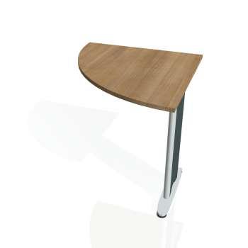 Přídavný stůl Hobis FLEX FP 901 levý, višeň/kov