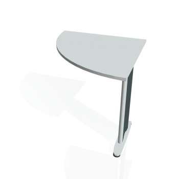 Přídavný stůl Hobis FLEX FP 901 levý, šedá/kov