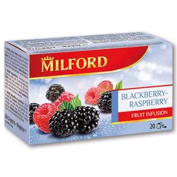 Ovocný čaj Milford - Ostružina a malina, 20 x 2,5 g
