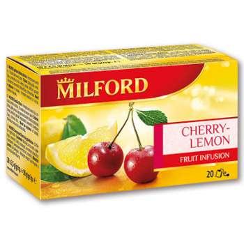 Ovocný čaj Milford - Třešeň a citron, 20 x 2,25 g