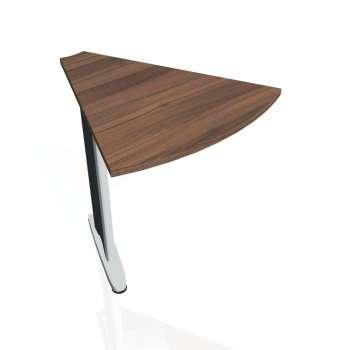 Přídavný stůl Hobis FLEX FP 451, ořech/kov
