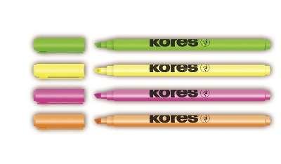 Zvýrazňovač Kores - 4 barvy