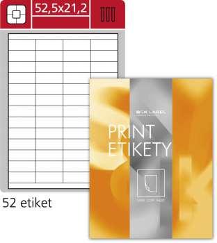 Samolepicí etikety SK Label - 52,5 x 21,2 mm, 5 200 etiket