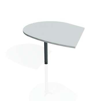 Přídavný stůl Hobis FLEX FP 20 levý, šedá/kov