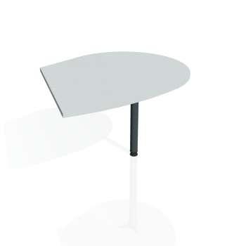 Přídavný stůl Hobis FLEX FP 20 pravý, šedá/kov