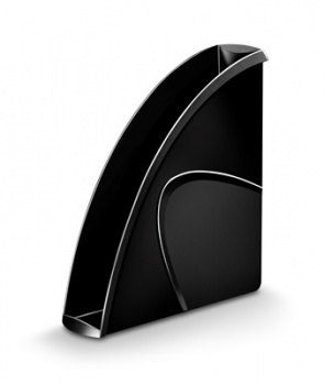 Stojan na časopisy CepPro - plastový, černý 674
