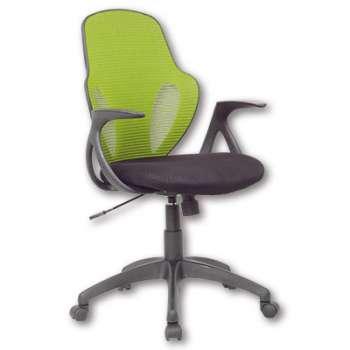 Kancelářská židle Realspace Austin -  černá/zelená