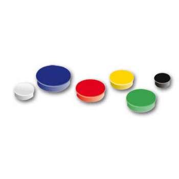 Sada magnetů Niceday - bílé, průměr 4 cm, 10 ks