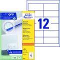 Univerzální etikety Avery Zweckform - bílé, 97 x 42,3 mm, 1 200 ks