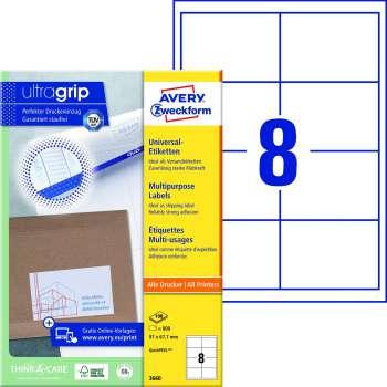 Samolepicí etikety Avery Zweckform - 97,0 x 67,7 mm, 800 etiket