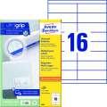 Univerzální etikety Avery Zweckform - bílé, 105 x 33,8 mm, 1 600 ks
