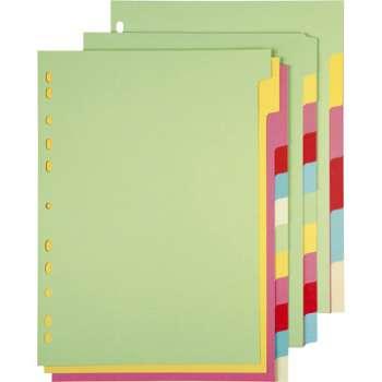 Rozlišovač Office Depot barevný papírový A4, 6 listů