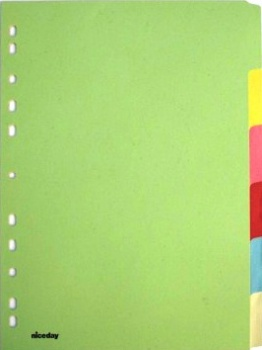 Rozlišovač Office Depot barevný papírový A4, 10 listů