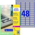 Samolepicí etikety polyesterové - stříbrná, velmi odolné, 45,7 x 21,2 mm, 960 ks