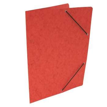 Desky prešpánové s gumičkou bez chlopní A4, červené, 20 ks