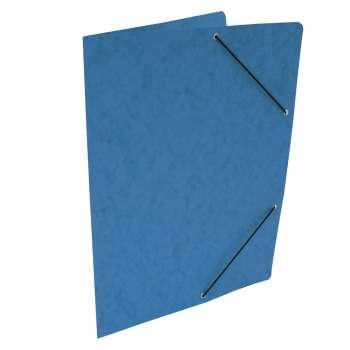 Desky prešpánové s gumičkou bez chlopní A4, modré, 20 ks