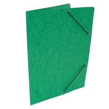 Prešpánové desky s gumičkou bez chlopní A4, zelená, 20 ks